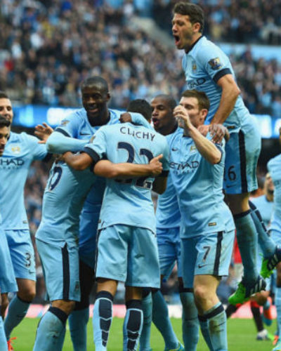Man City Meets Arsenal's Record of 11 Points Clear at the Top After Beating Man U