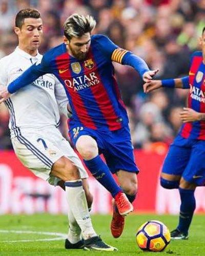 Messi Shines as Barcelona Rout 10 man Madrid at the Bernabeu