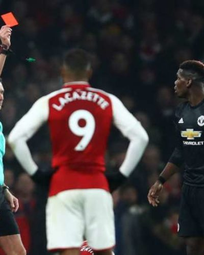Pogba Sees Red as Mourinho Record First Win Against a 'big six' Team Away from Home