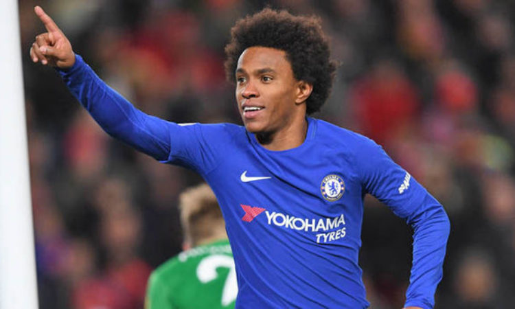 Jose Mourinho confident of signing Willian ahead of Barcelona