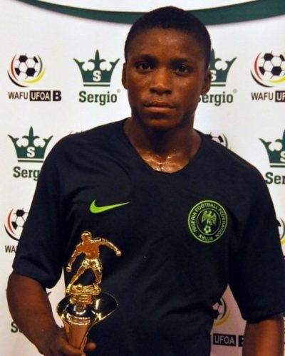 Golden Eaglets center forward, Olakunle Olusegun on course to become top scorer